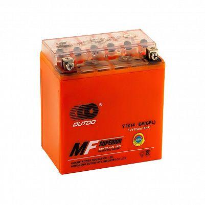 Мото аккумулятор 12Ah OUTDO YTX14-BS GEL (14Ah) фото 401x401