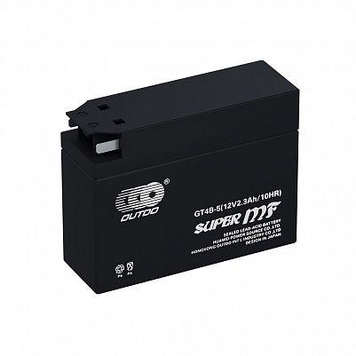 Мото аккумулятор 2,3Ah OUTDO GT4B-5 (2,5Ah) фото 401x401