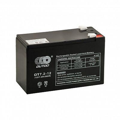 Аккумулятор OUTDO VRLA 12v  7.2Ah (OT7.2-12) фото 401x401