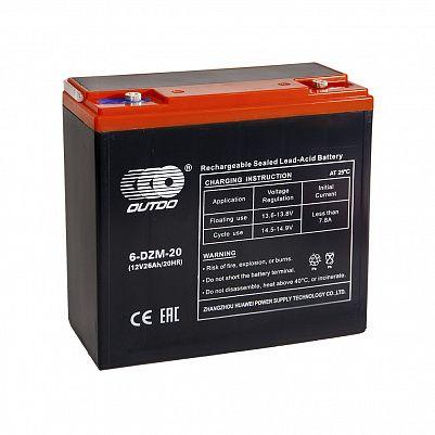 Аккумулятор OUTDO VRLA 12v  24Ah (6-DZM-20) e-byke фото 401x401
