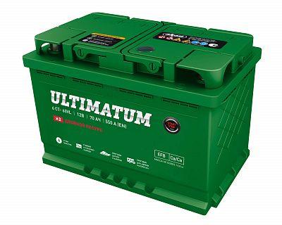 Автомобильный аккумулятор Ultimatum EFB 70.0 фото 400x320