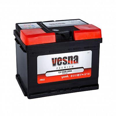 Автомобильный аккумулятор VESNA Premium 62.0 LB2 фото 401x401