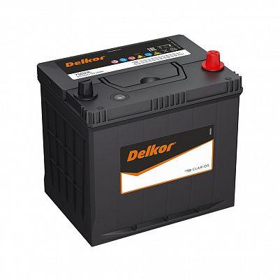 Автомобильный аккумулятор DELKOR 75D23L (65) обр фото 401x401