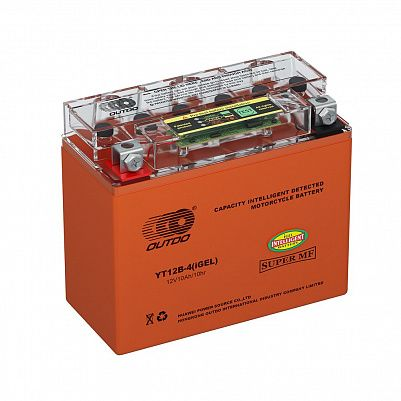 Мото аккумулятор 10Ah OUTDO YT12B-4 iGEL фото 401x401
