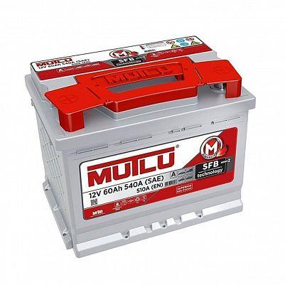 Автомобильный аккумулятор Mutlu SFB 3 (L2.60.054.A) 60 Ач обратный фото 401x401