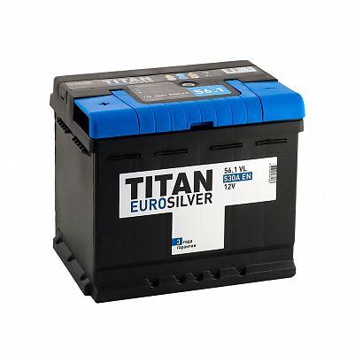Автомобильный аккумулятор Titan EUROSILVER 56.1 фото 401x401