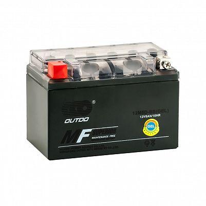 Мото аккумулятор 5Ah OUTDO 12M5D-BS GEL (5,5Ah) фото 401x401