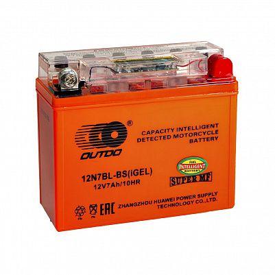 Мото аккумулятор 7Ah OUTDO 12N7BL-BS iGEL (8Ah) фото 401x401