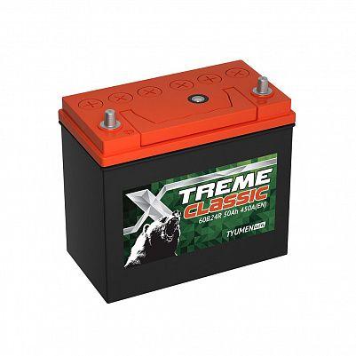 Автомобильный аккумулятор X-treme CLASSIC (Тюмень) 60B24R 50 Ач фото 401x401