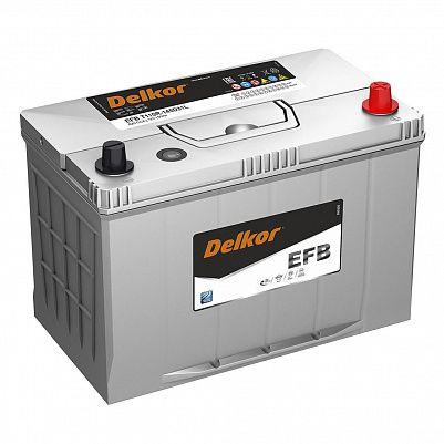 Аккумулятор автомобильный DELKOR EFB 145D31L обр фото 401x401