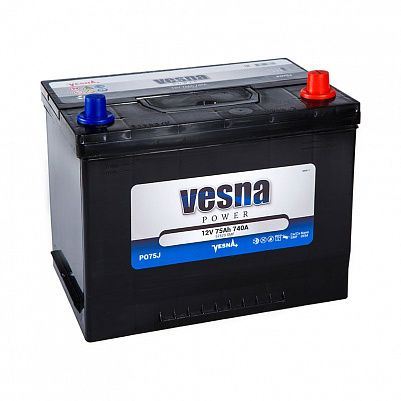 Автомобильный аккумулятор VESNA Power 75 (D26L) фото 401x401