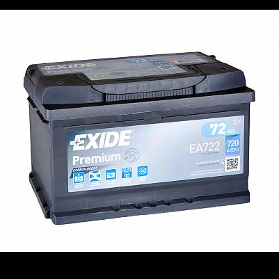Автомобильный аккумулятор Exide Premium 72.0 (EA722)  низкий фото 401x401