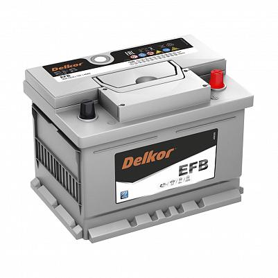 Аккумулятор автомобильный DELKOR EFB LN2 60.0 обр фото 401x401
