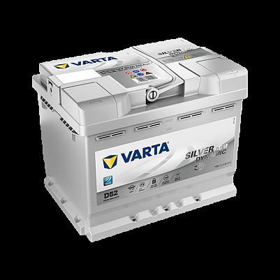 Автомобильный аккумулятор Varta D52 Silver Dynamic AGM Start-Stop Plus (560 901 068) 60Ah фото 401x401