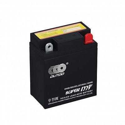 Мото аккумулятор 6Ah/ 6V OUTDO 6N6L-BS GEL (7Ah) фото 401x401