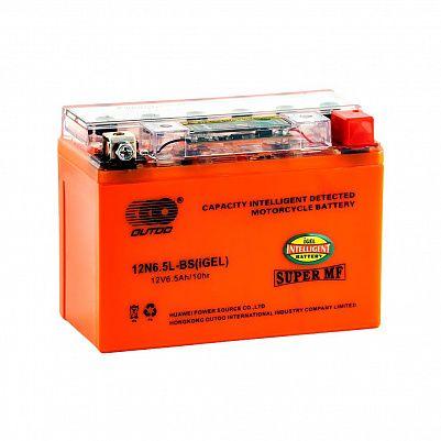 Мото аккумулятор 6,5Ah OUTDO 12N6,5L-BS iGEL фото 401x401