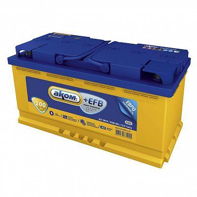 Автомобильный аккумулятор Аком + EFB 100.0 фото 401x401