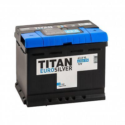 Автомобильный аккумулятор Titan EUROSILVER 63.0 фото 401x401
