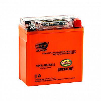 Мото аккумулятор 5Ah OUTDO 12N5L-BS iGEL фото 401x401
