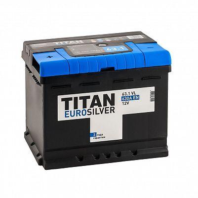 Автомобильный аккумулятор Titan EUROSILVER 63.1 фото 401x401